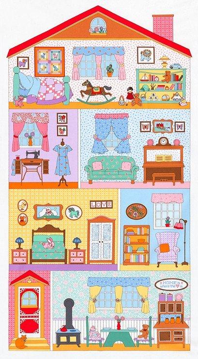 Penny's Doll House Robert Kaufman #2 Panel dollhouse