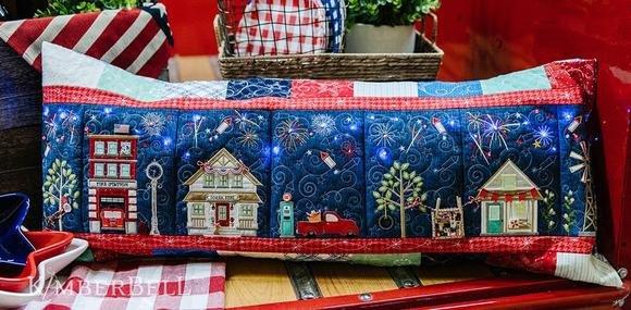 KimberBell Main Street Celebration Bench Pillow Fabric Kit