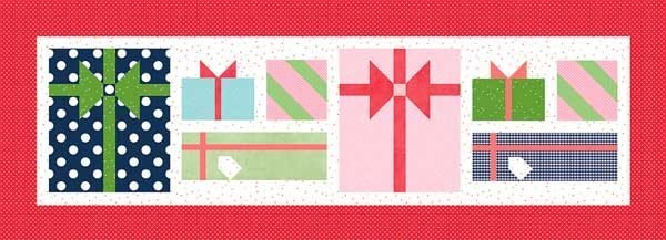 Pretty Packages Table Runner Christmas Project (Table Runner of the Month)