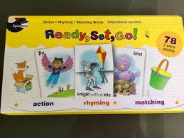 Ready Set Go 2 Piece  puzzles  Action Rhyming and Matching