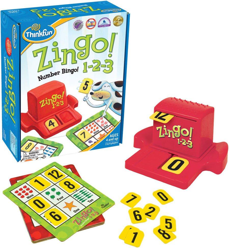 Zingo 1-2-3 Think Fun Game Bingo with numbers