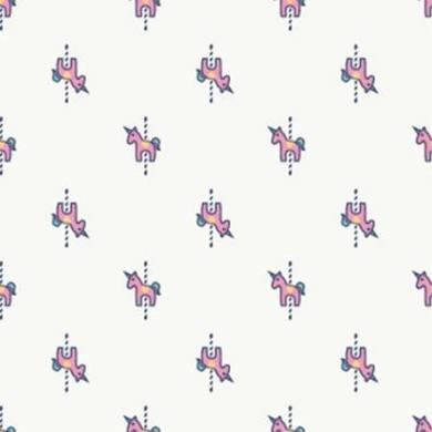 White Background - Pink Unicorn - Mini Fun Fair