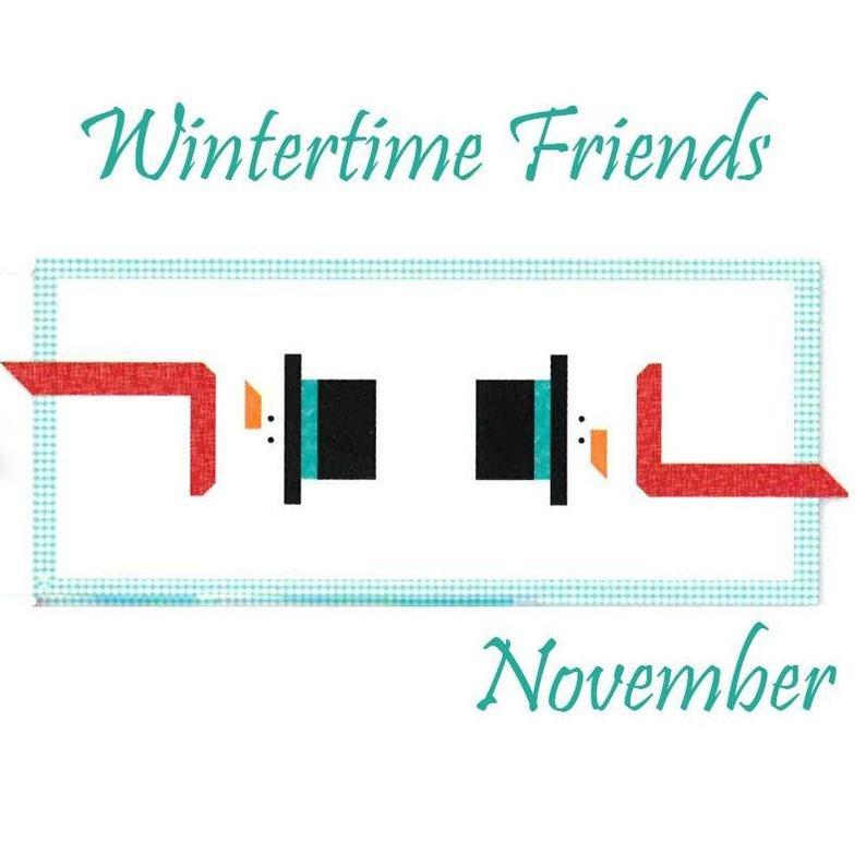 Winter Friends Snowman Table Runner of the Month Riley Blake KTR3621