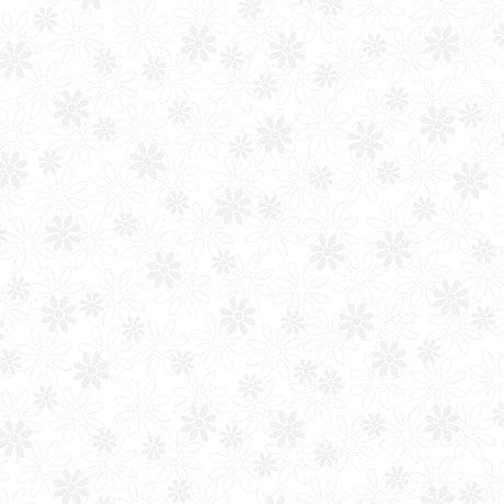 Stencil Floral White