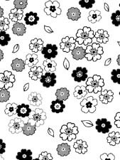 SMALL FLOWERS BLACK, WHITE AND GRAY