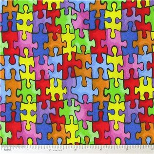 Fabric with Puzzles