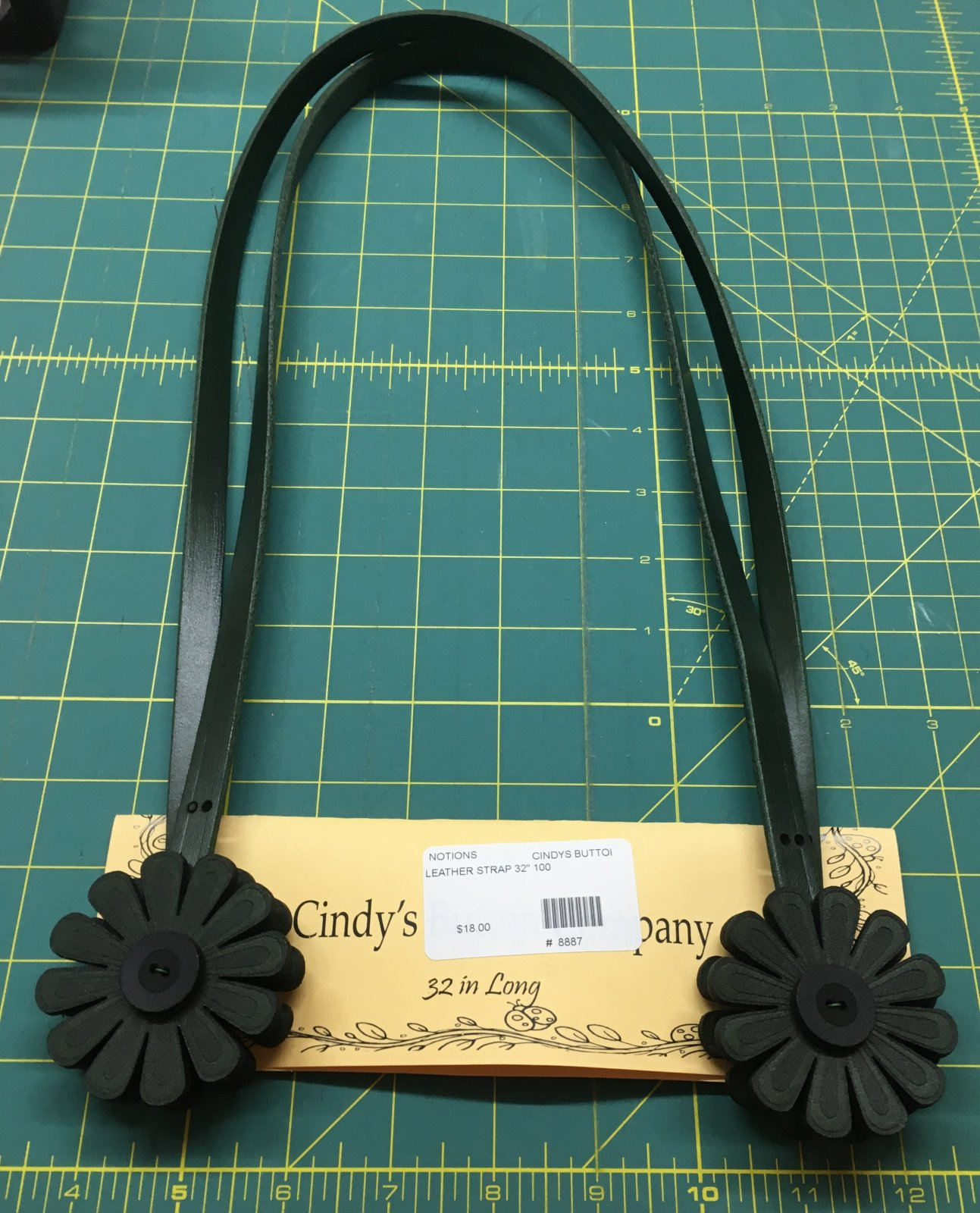 Purse Strap - Leather 32 Green 1006