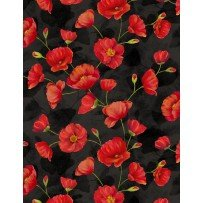 Trailing Poppies Red/Black
