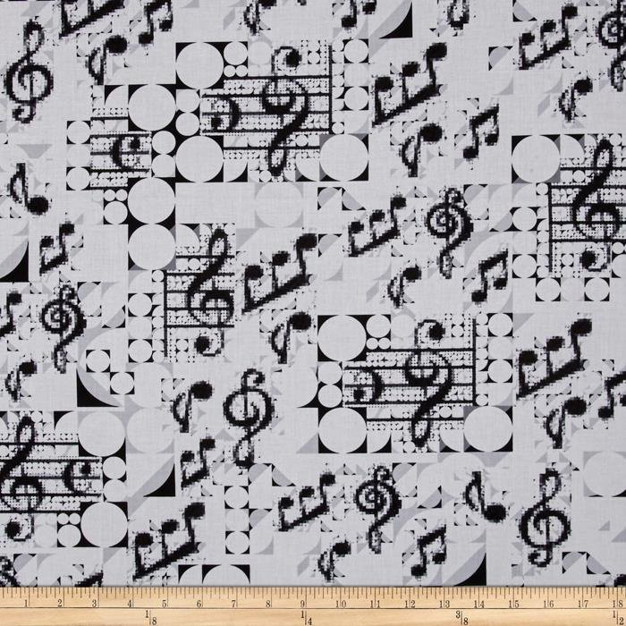 That's Jazz Music White Black Large Notes 0417321
