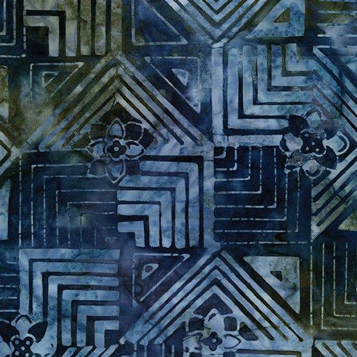 Bali Blue Notes - Tiles Navy