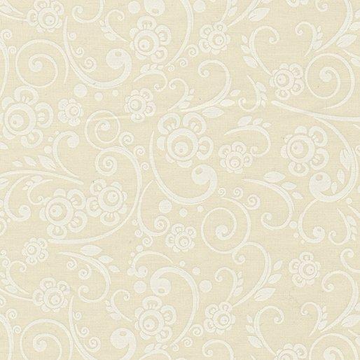 108 Wide Floral Vine - White/Off White