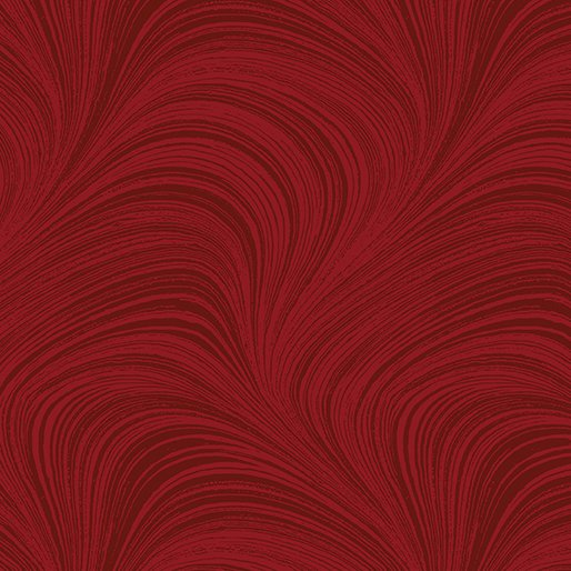 108 Wide Wave Texture - Medium Red
