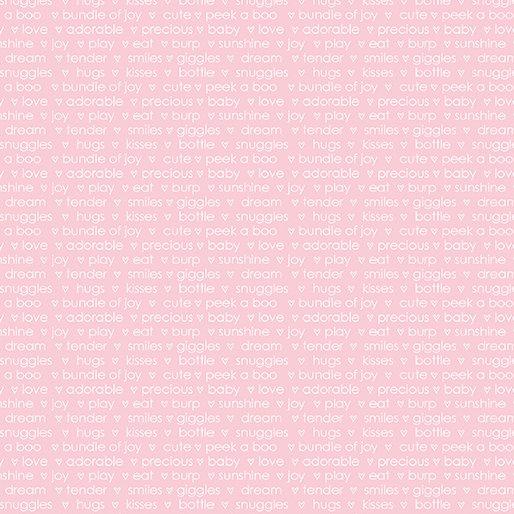 Words - Light Pink