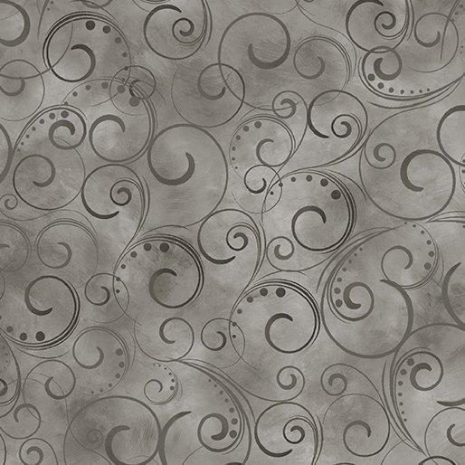 Swirling Splendor - 108in - Gray smoke