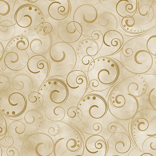 Swirling Splendor - 108in - Tan