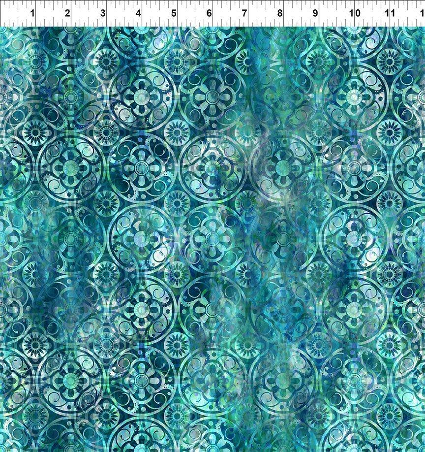 Floragraphix V - Medallions - Blue