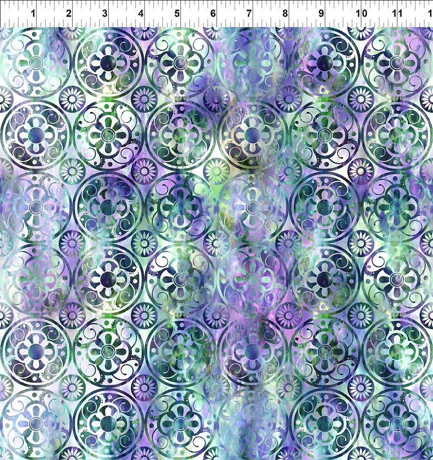Floragraphix V - Medallions - Green/Purple