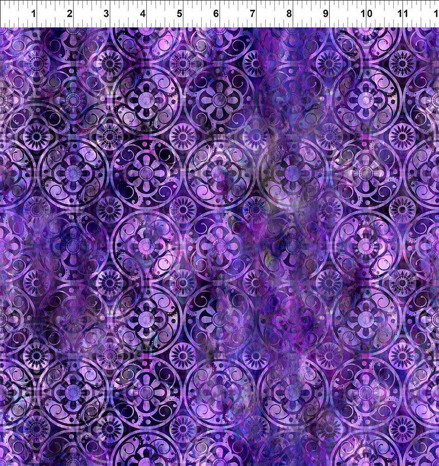 Floragraphix V - Medallions - Purple