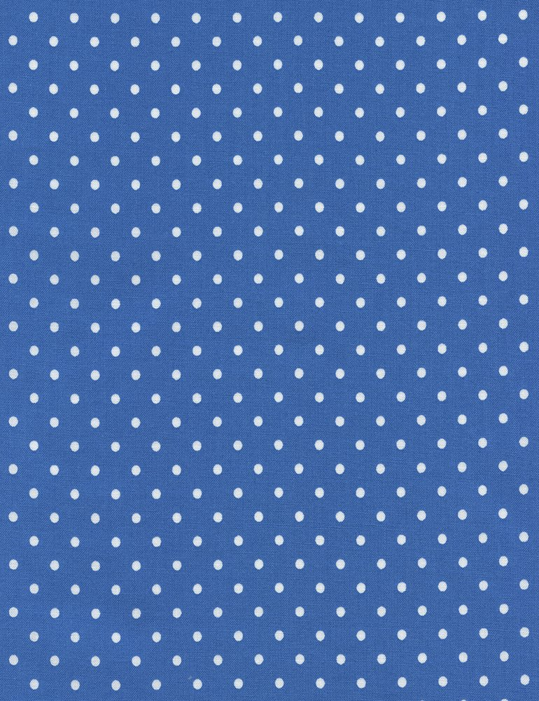 Dot Flannel - Blue