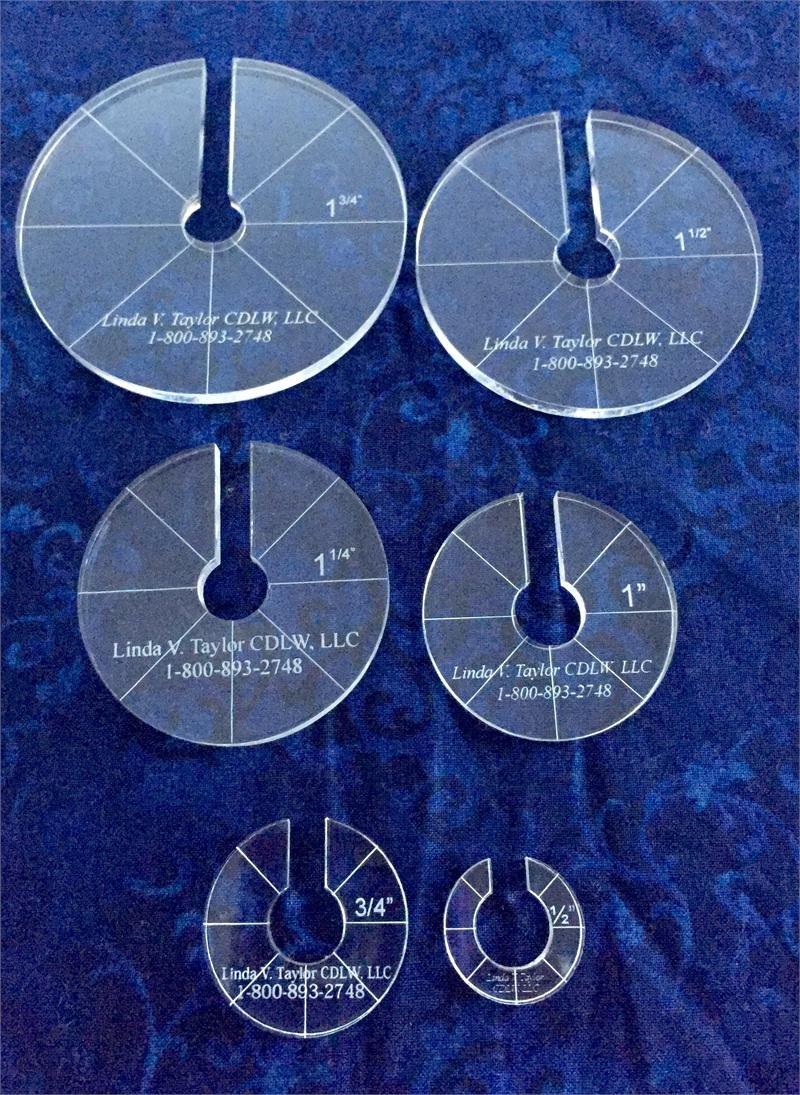 Linda Taylor\'s Crosshatch Circles/Spacing Discs - 1482967416