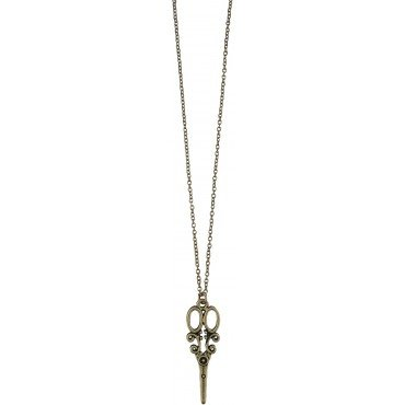 Scissors Necklace - Gold