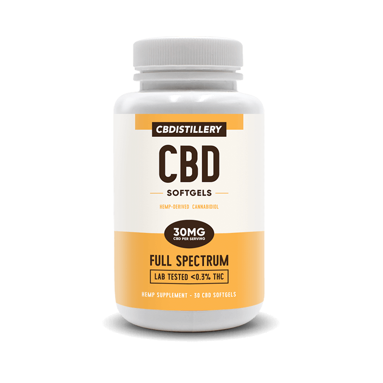 Full Spectrum CBD Infused Softgels - 30mg - 30 Count