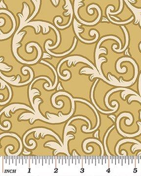 108 Leaf Scroll - Gold