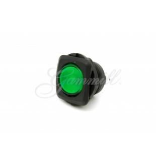 Switch - Illuminated Rocker Switch - Green - Round