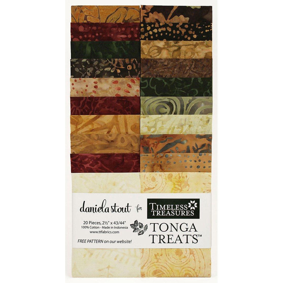 Tonga Treats - Nutmeg - 20pc - 2-1/2  x 43/44 - 100% Cotton