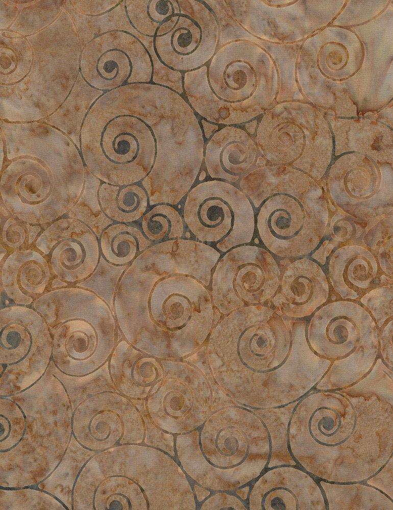 106 Wide Batik Circles - Clay