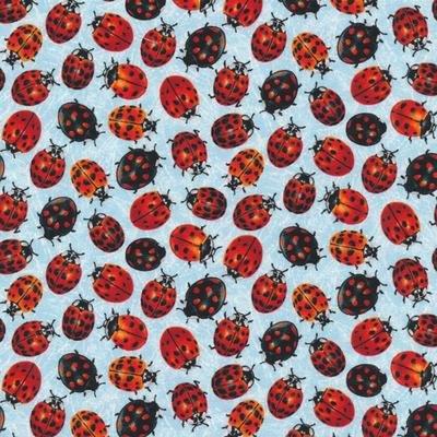 Frolicking Field  Ladybug - Blue - Paintbrush Studio