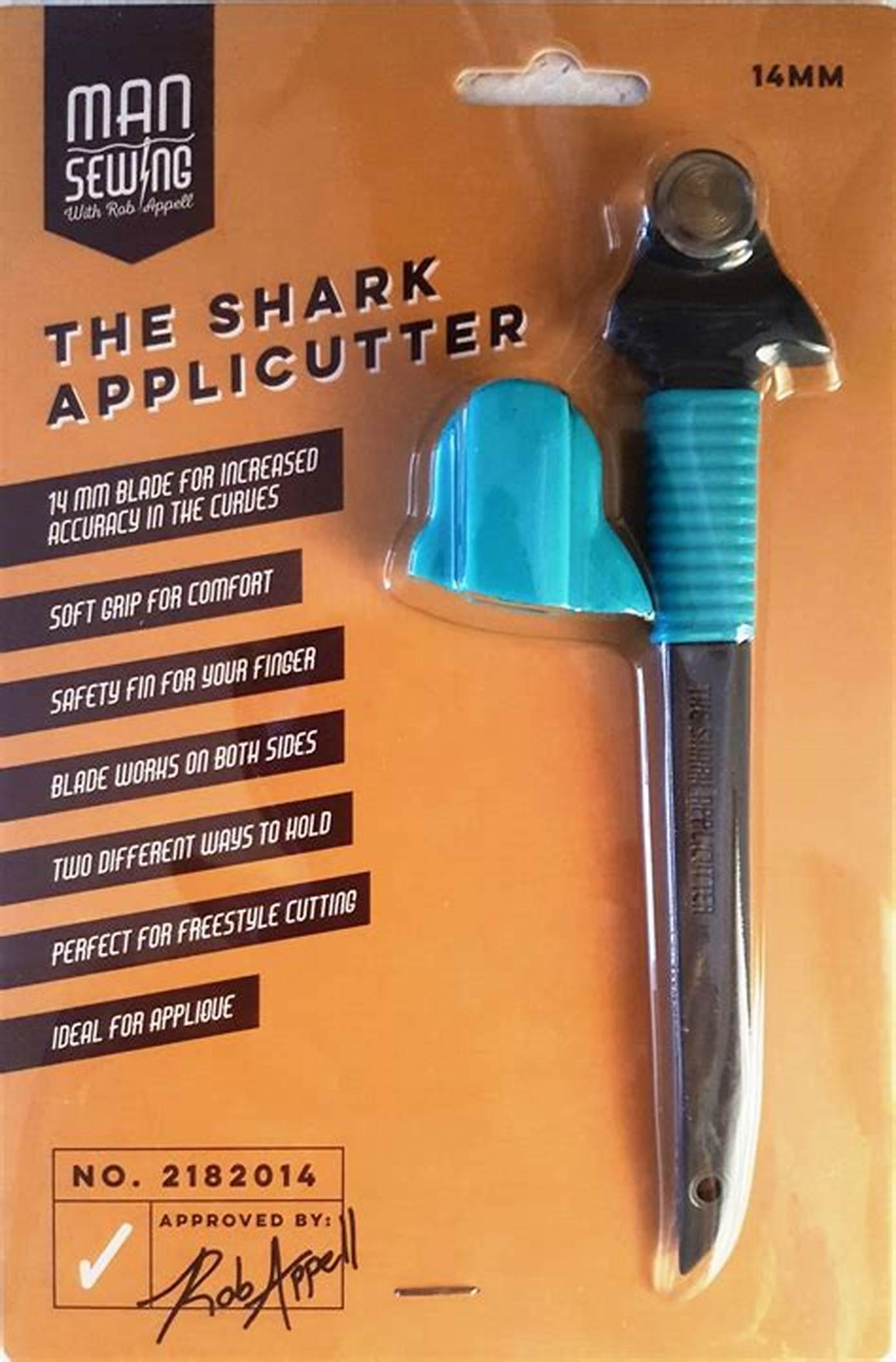 Man Sewing Shark Applicutter Rotary Cutter