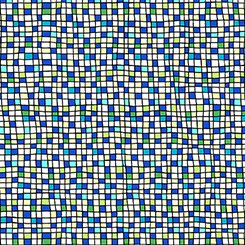 House on the Hill  Colored Grid - Blue - QT