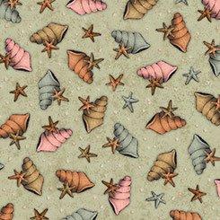 Adrift   Shells & Stars - Lt Sage - QT