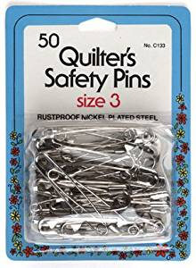 Safety Pins 50 Cnt Size 3