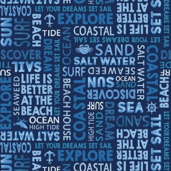 Indigo Coastal  Words - Blue - Studio E