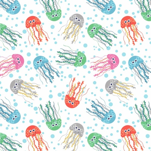 Sea Buddies - Jellyfish - white- by Blank Quilting