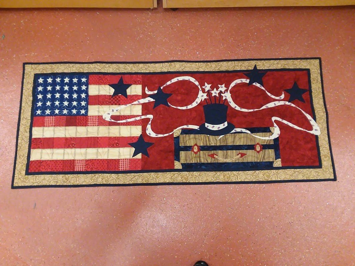 American Magic Table runner  21 x 59