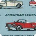 Old Guys Rule   Car Stripe - Denim - Robert Kaufman