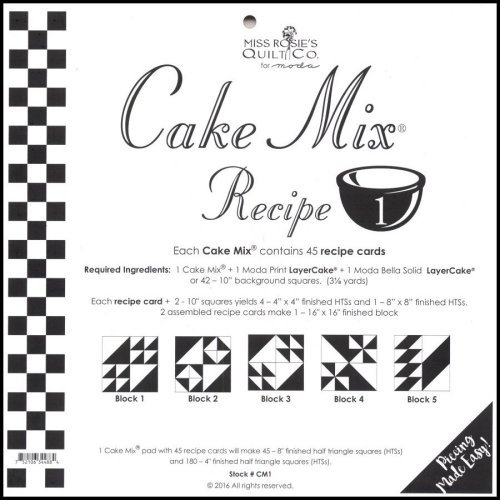 Cake Mix Recipe Patterns #1