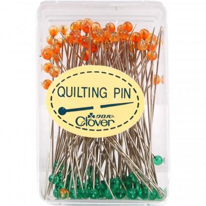 Clover Quilting Pins Fine Glass Heads