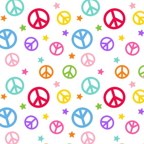 Peace Signs - White