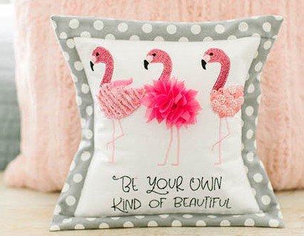 Flamingo Beauties Bench Buddy Fabric Kit