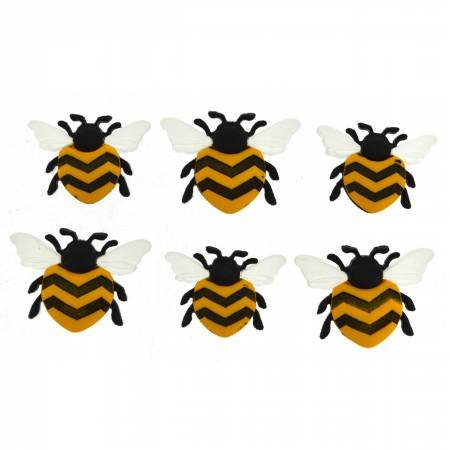 Bee Happy Buttons - 1 cnt