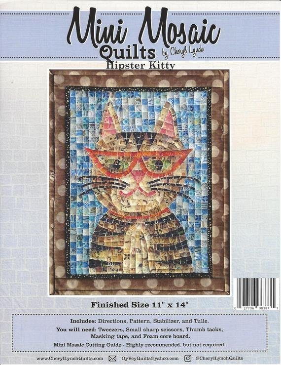 Mini Mosaic Hipster Kitty