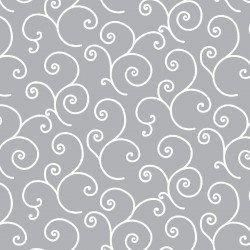 Kimberbell Basics  Scrolls- Grey  - Maywood Studio