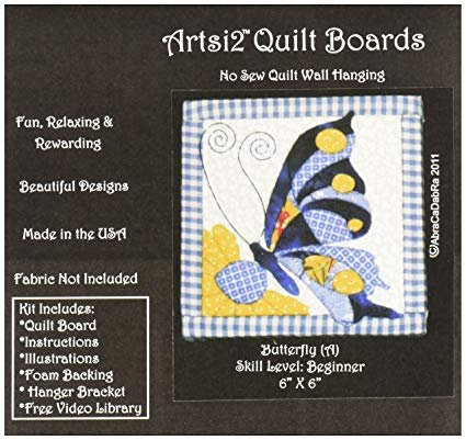 Butterfly A   No Sew Quilt Wall Hanging