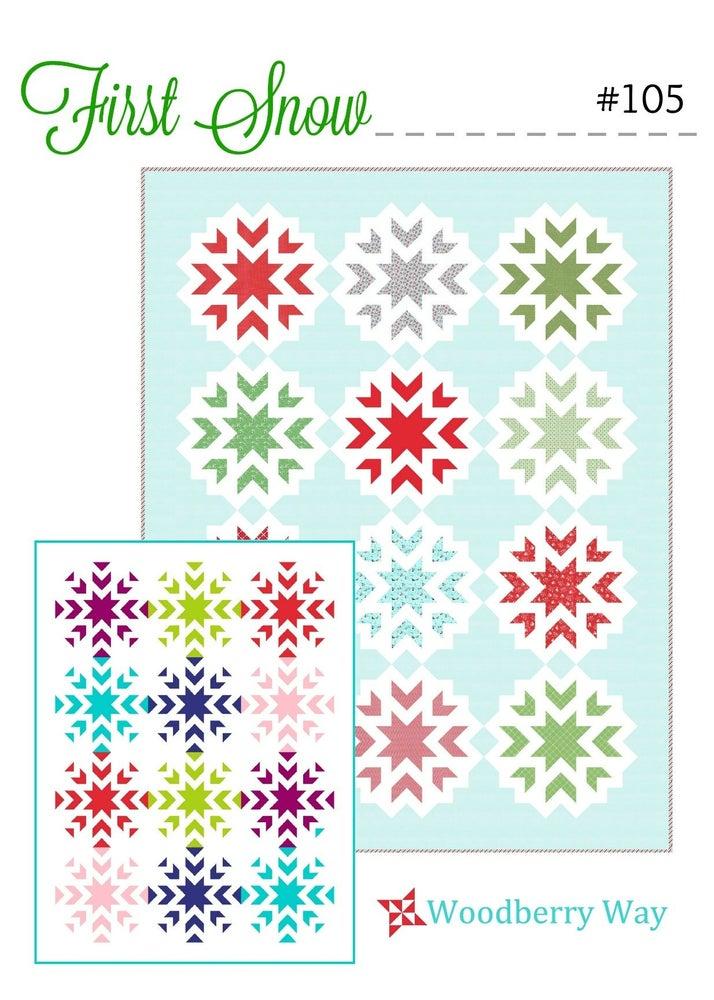 First Snow Quilt Pattern - Variation B
