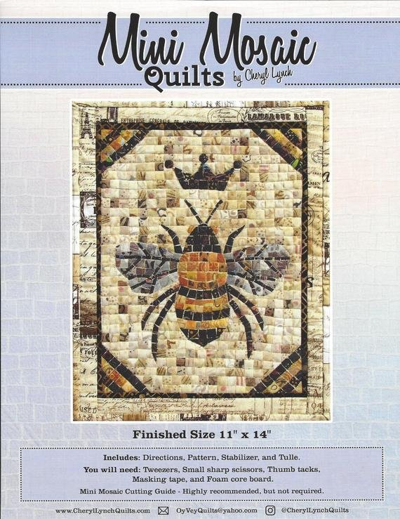 Mini Mosaic Queen Bee