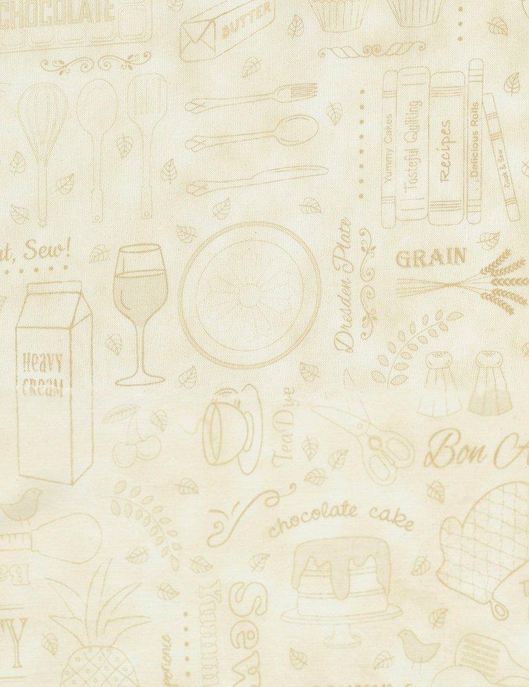 Taste the Experience - Cream - Scattered Utensils